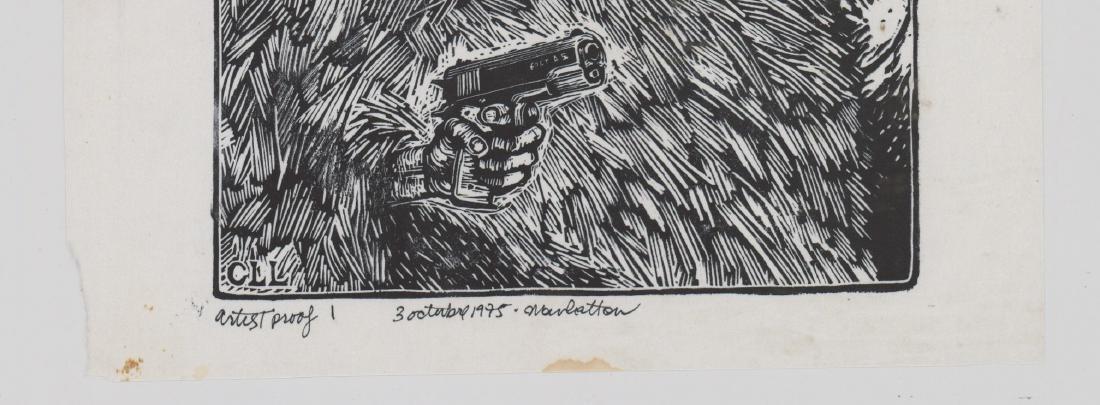 Carlos Llerena-Aguirre Artist Proof Woodcut - 3