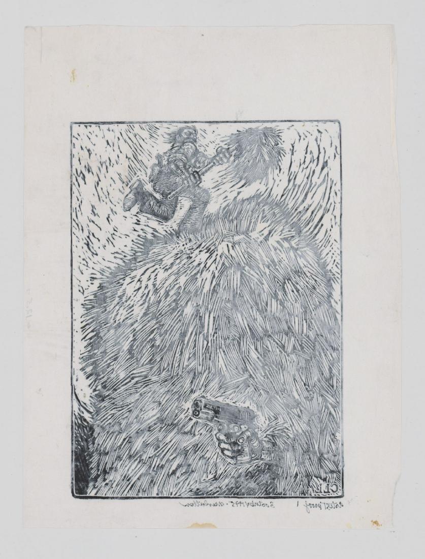 Carlos Llerena-Aguirre Artist Proof Woodcut - 4