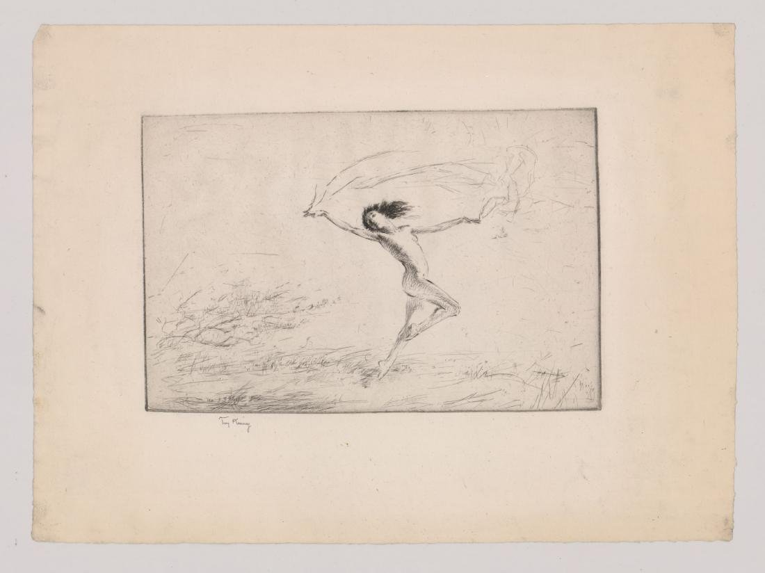 Troy Kinney (American 1871-1938) Etching - 2