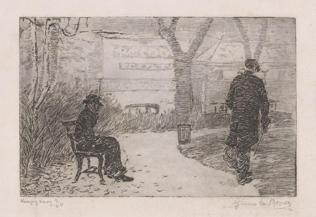 Glenn Brown (American 1876-1938) Etching
