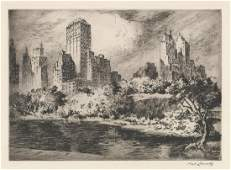 Nat Lowell New York 18801956 Etching