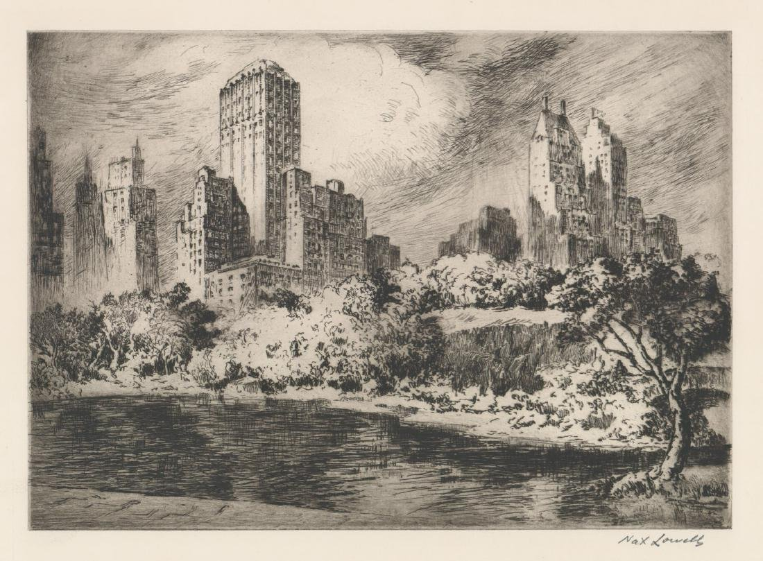 Nat Lowell (New York 1880-1956) Etching