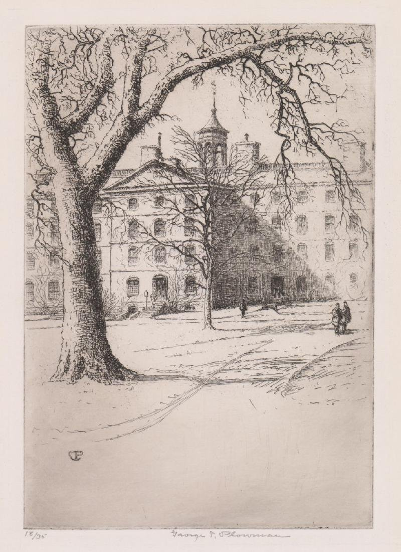 George Taylor Plowman (1869 - 1932) Etching