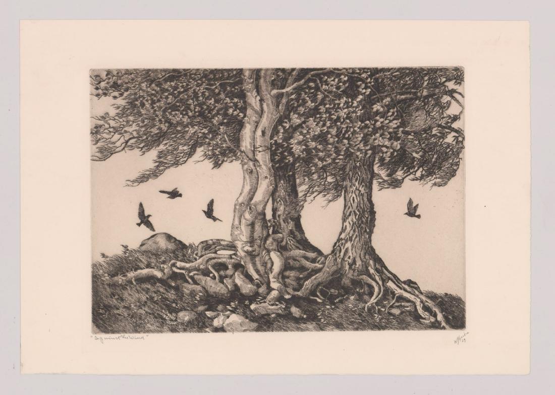 Walter Ronald Locke (1883-1949) Etching - 2