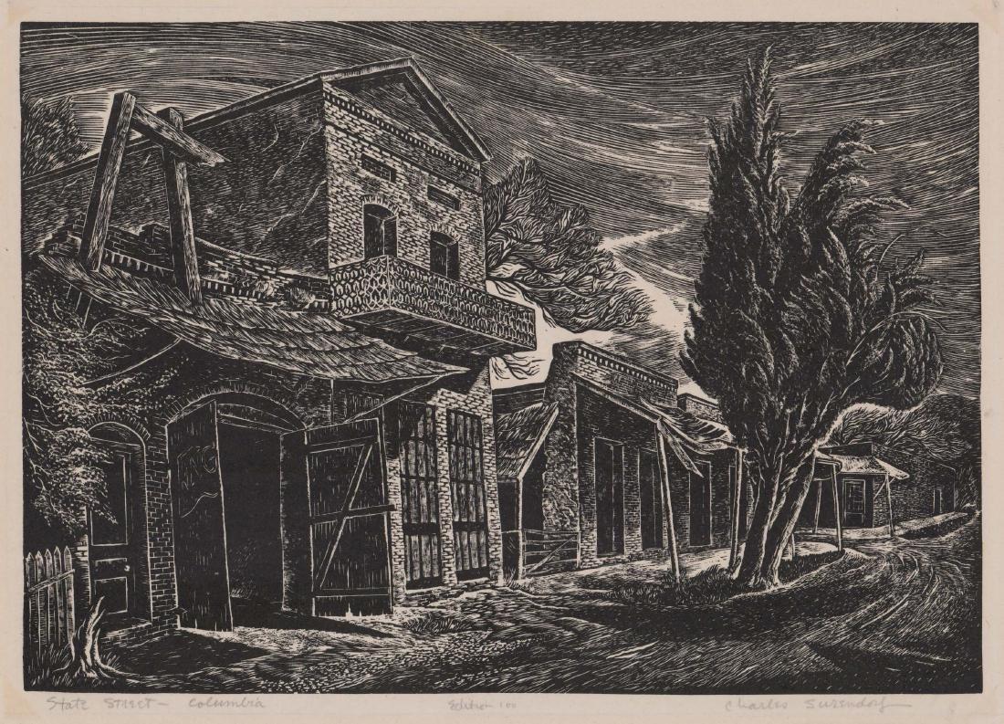 Charles Surendorf (1906-1979) Wood Engraving