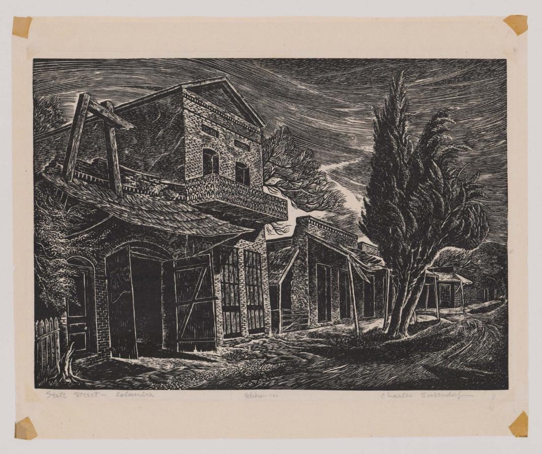 Charles Surendorf (1906-1979) Wood Engraving - 2