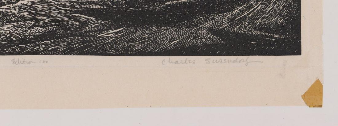 Charles Surendorf (1906-1979) Wood Engraving - 3