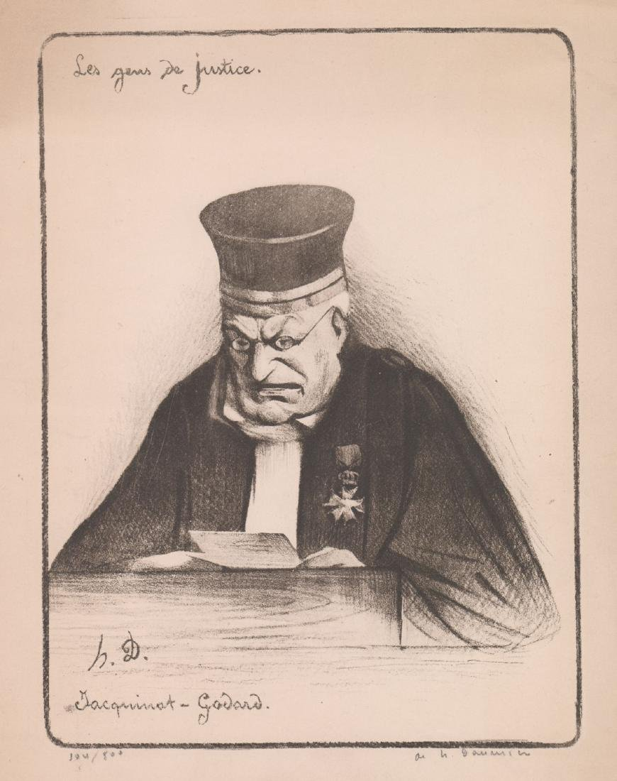 After Honore Daumier Lithograph