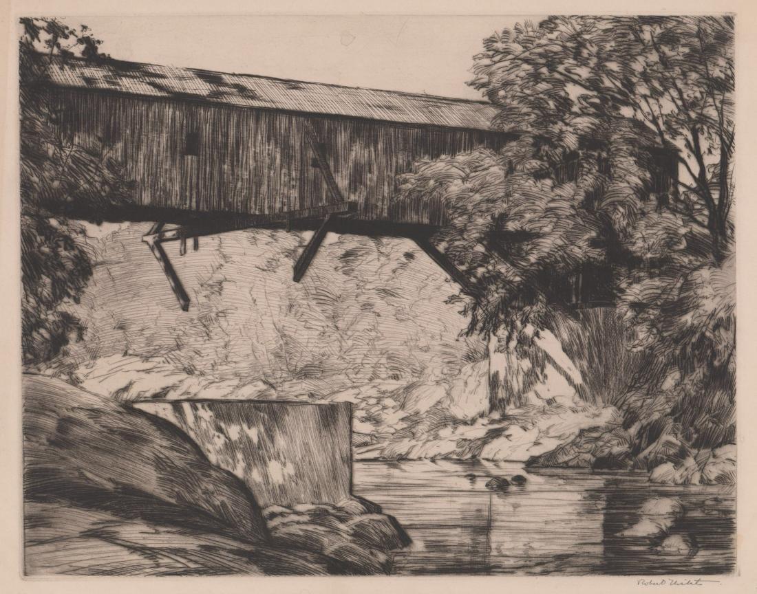Robert Nisbet (American 1879-1961) Large Etching