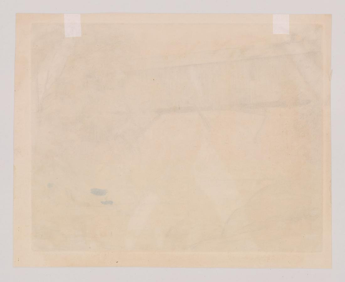 Robert Nisbet (American 1879-1961) Large Etching - 4