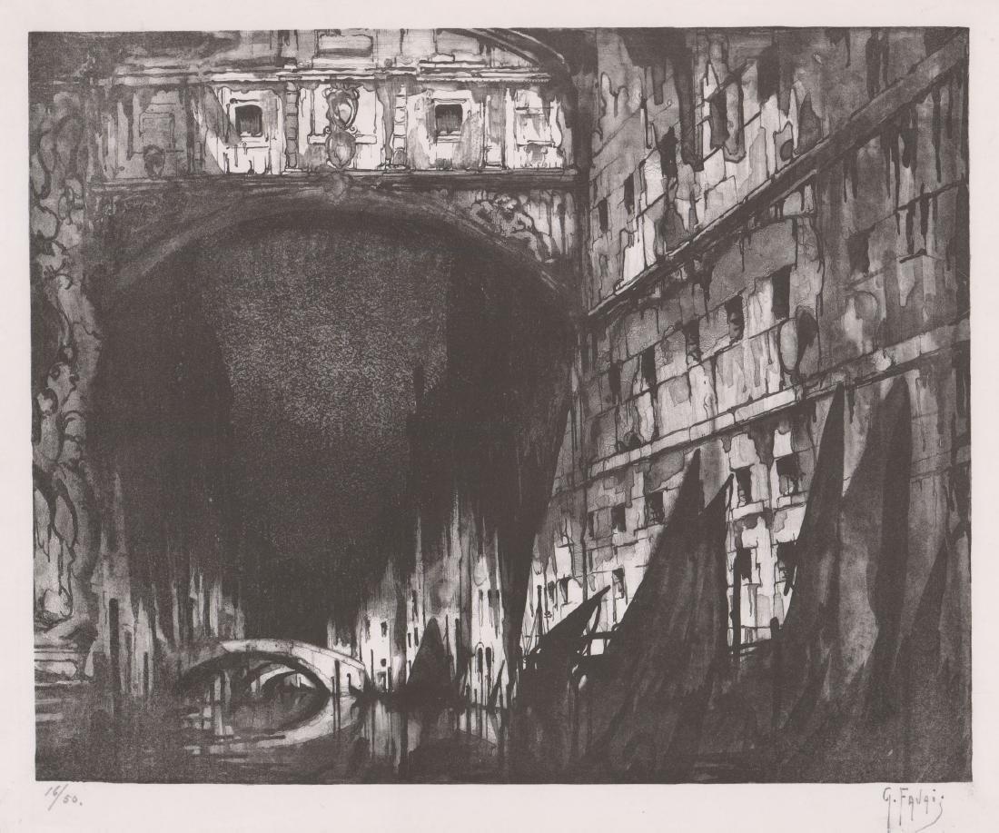 Gennaro Favai (Italy 1879-1958) Lithograph