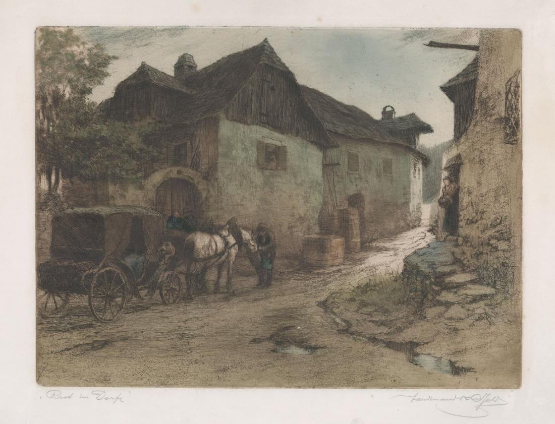 Ferdinand Karl Gold (Austria 1882-1981) Etching