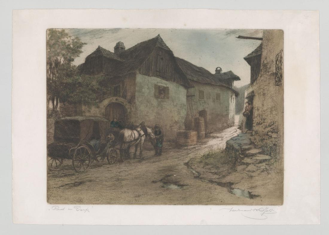 Ferdinand Karl Gold (Austria 1882-1981) Etching - 3