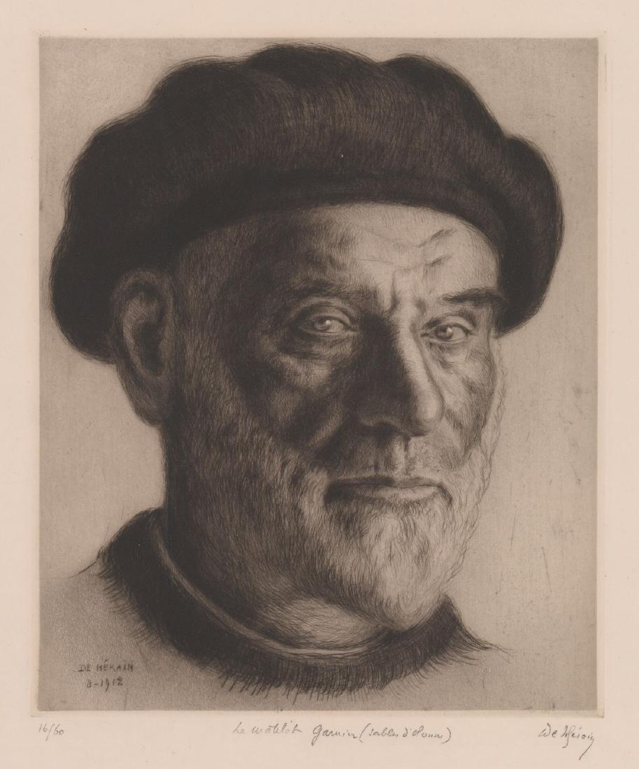 Francois de Herain (France 1877-1962) Etching
