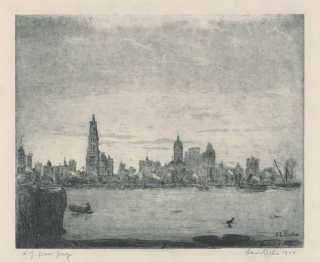 Leon Louis Dolice (New York 1892-1960) Etching