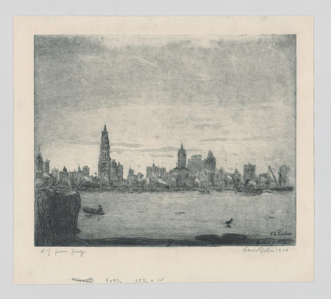 Leon Louis Dolice (New York 1892-1960) Etching - 3