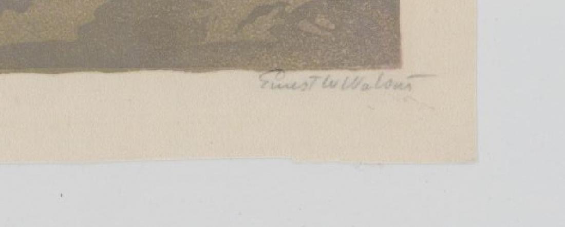 Ernest W. Watson Woodblock Print [Misty Morning] - 3