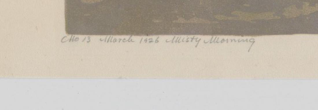 Ernest W. Watson Woodblock Print [Misty Morning] - 4