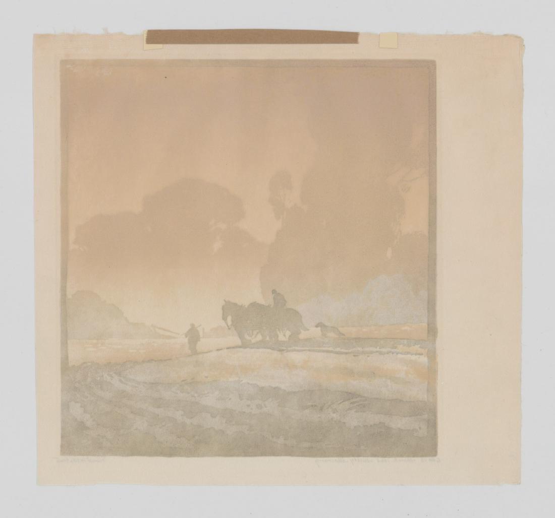 Ernest W. Watson Woodblock Print [Misty Morning] - 5