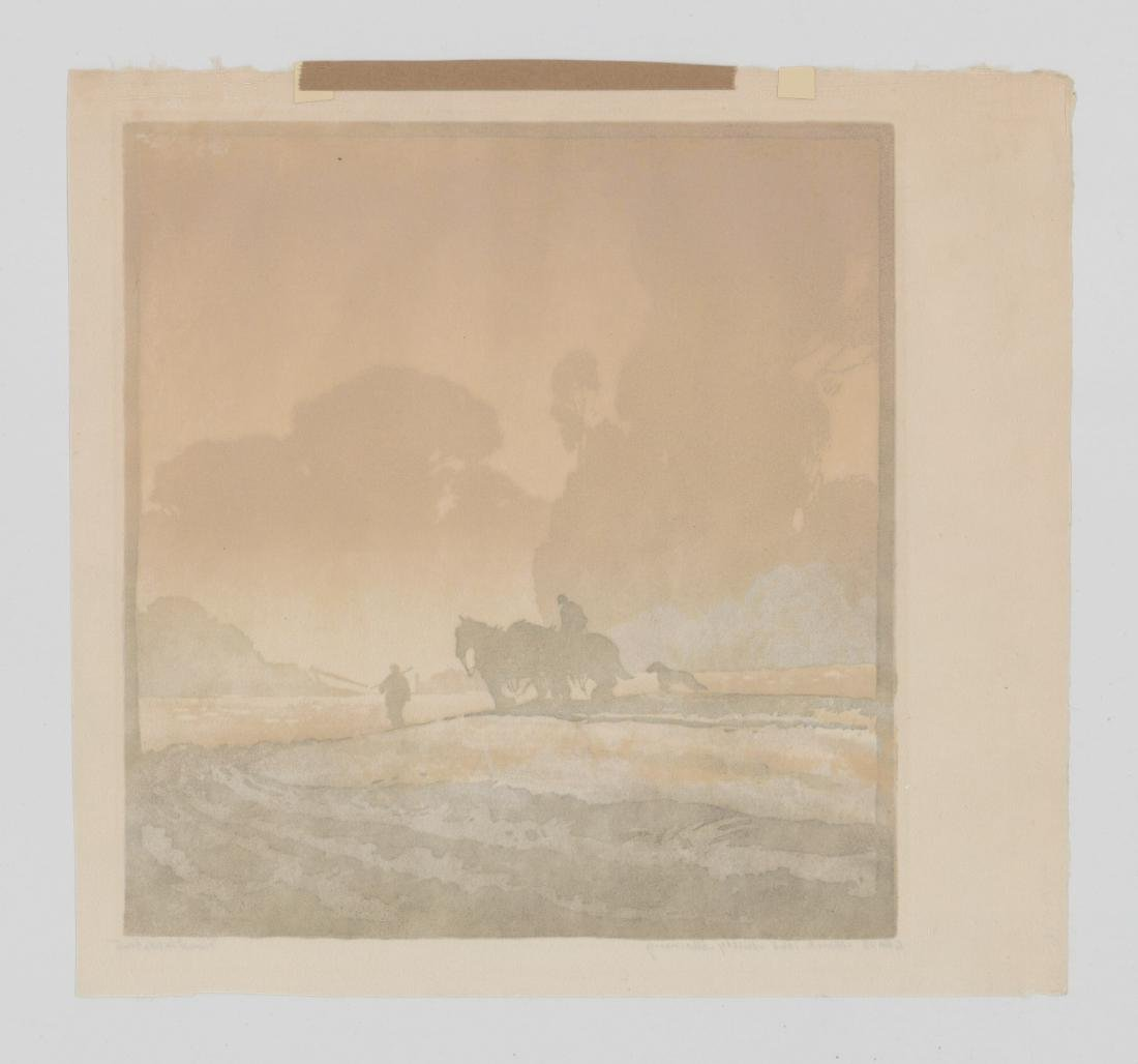 Ernest W. Watson Woodblock Print [Misty Morning] - 5