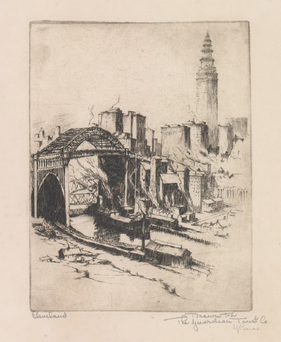 Gerry Peirce Etching [Cleveland]