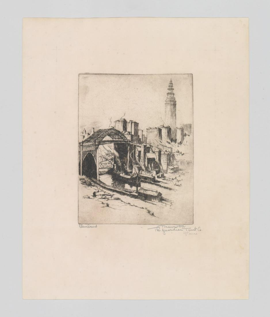 Gerry Peirce Etching [Cleveland] - 2