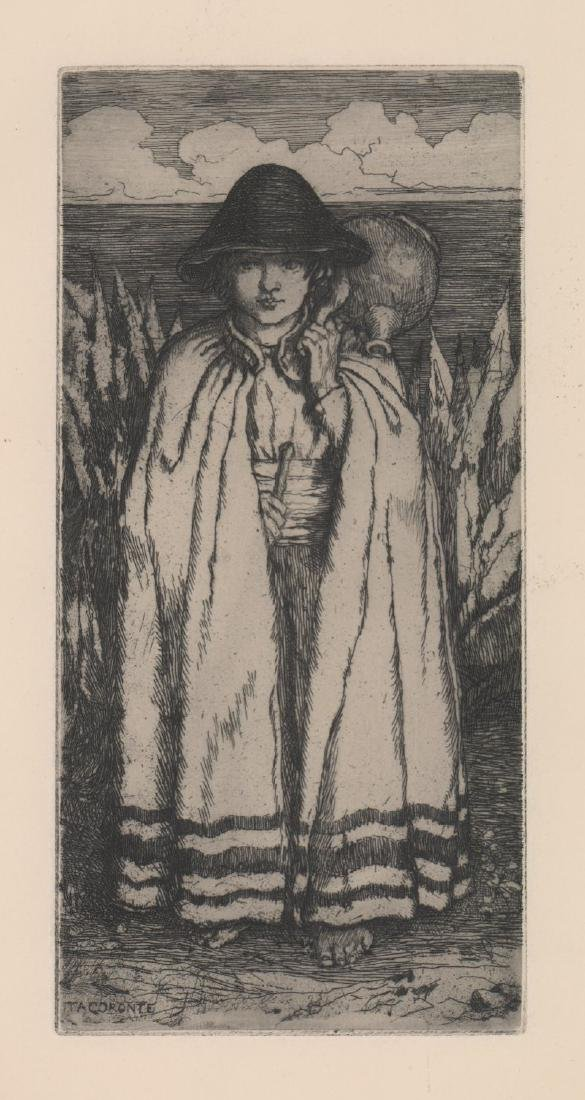 Amelia Bauerle Etching [A Boy of Teneriffe]