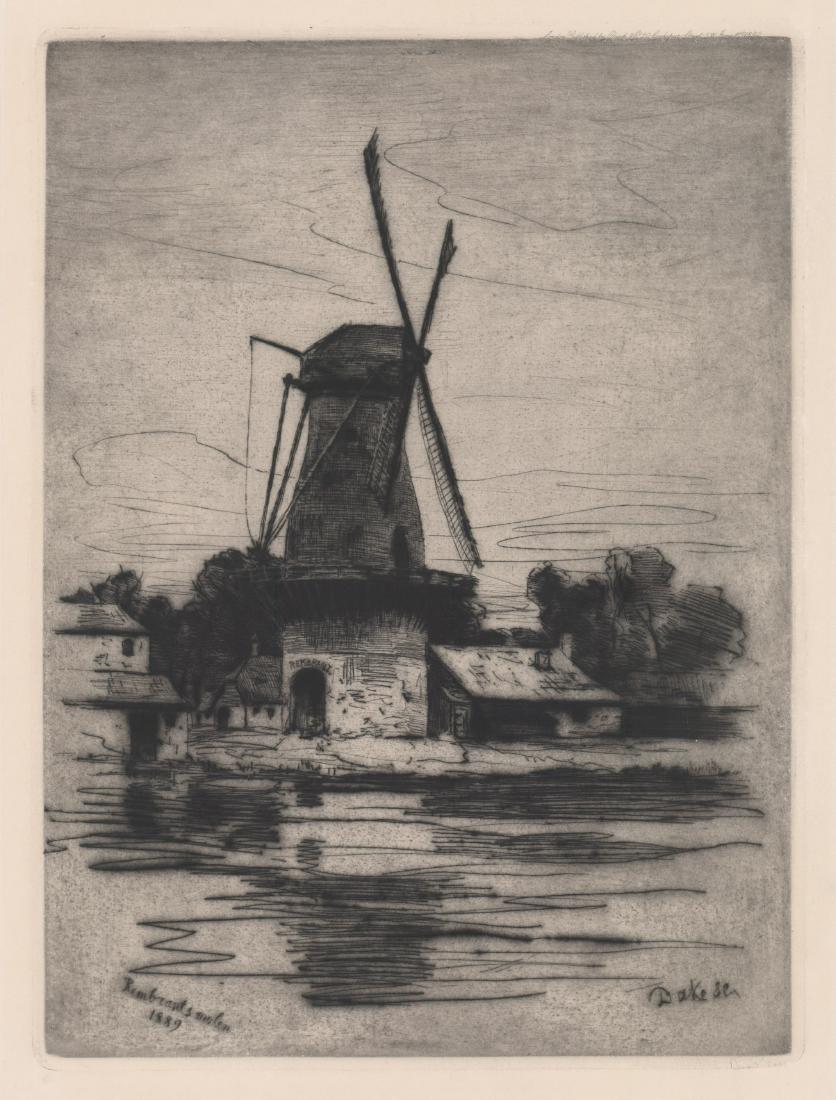 Carel Lodewijk Dake I (1857 - 1918) Etching, 1890