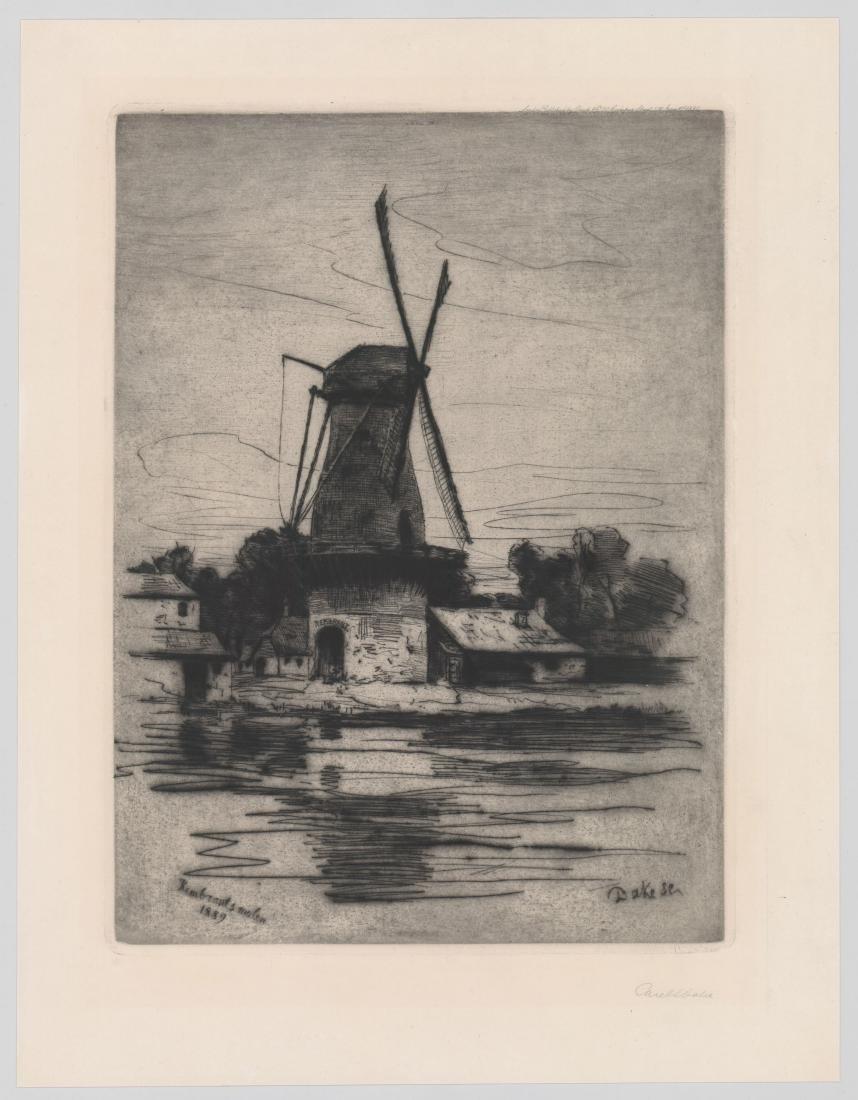 Carel Lodewijk Dake I (1857 - 1918) Etching, 1890 - 2