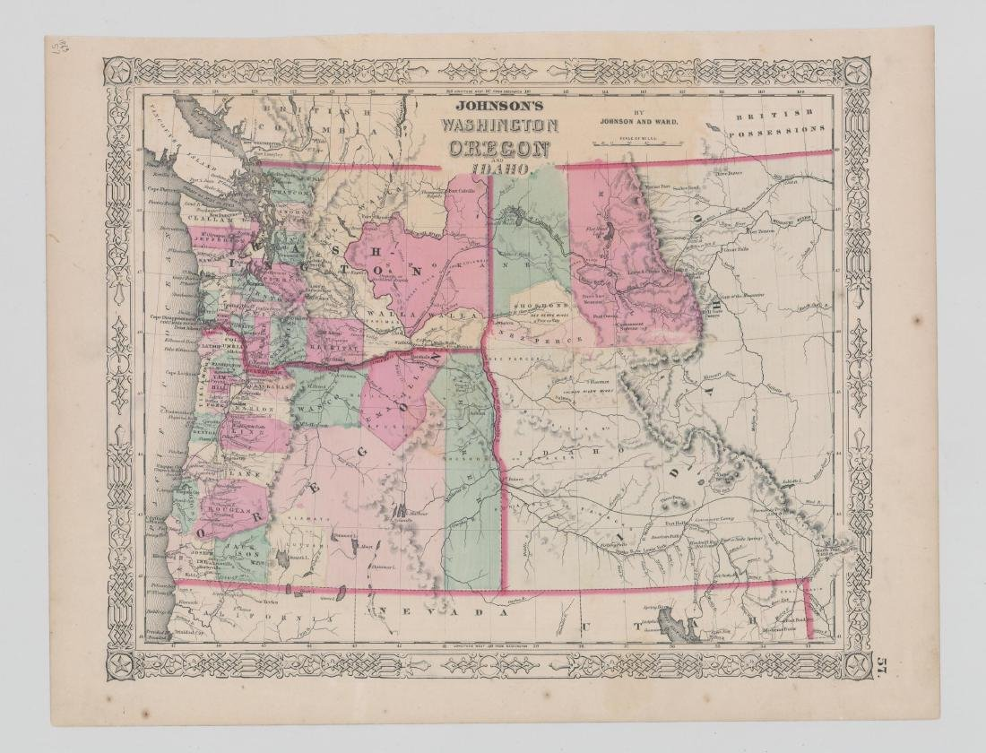 Johnson's Washington, Oregon and Idaho [1864]