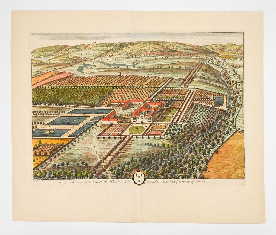 Johannes Kip After L. Knyff Antique Map of York - 2