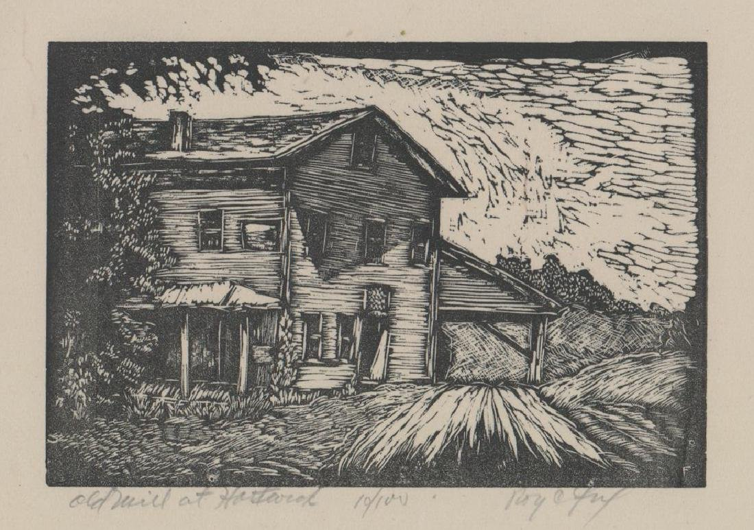 Roy C. Fox (New York 1908-1993) Woodcut Print