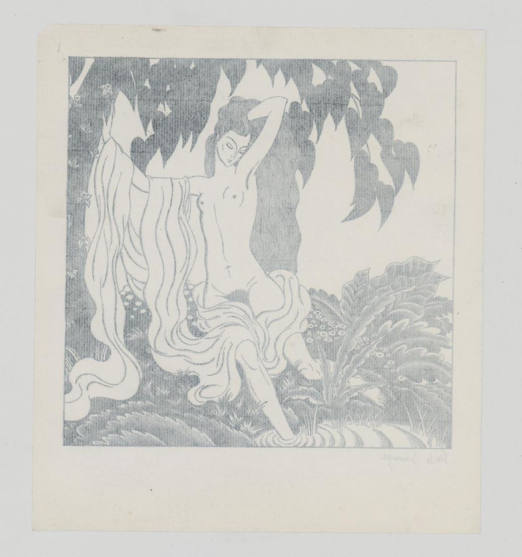 Steele Savage Signed Woodcut Engraving - 4