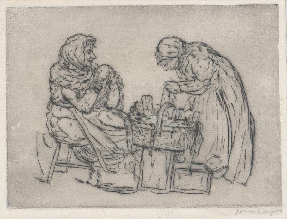 Jerome Myers (New York 1867-1940) Etching