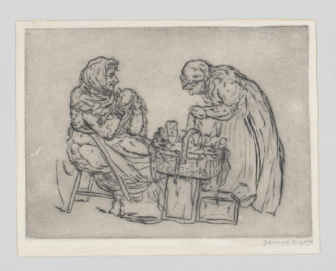 Jerome Myers (New York 1867-1940) Etching - 2