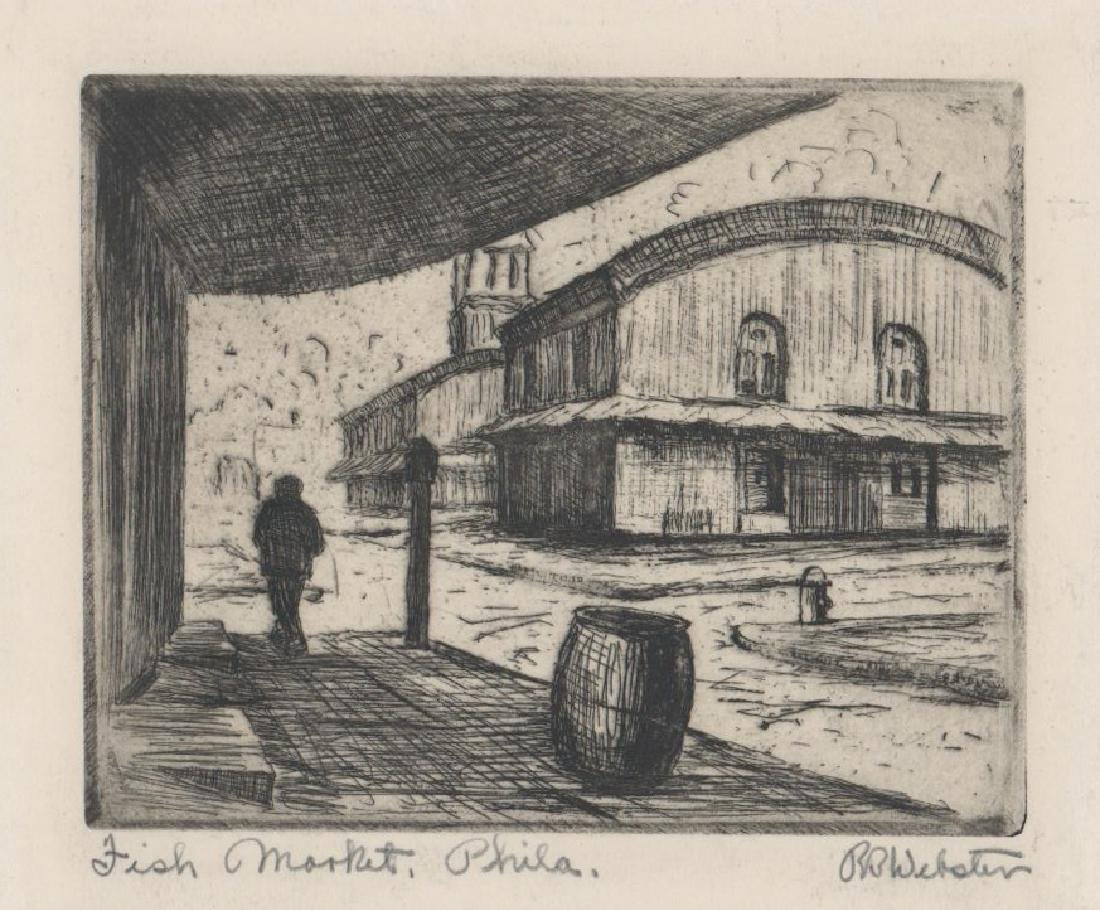 R.B. Webster Etching [Fish Market, Philadelphia]