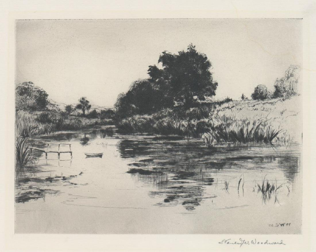 Stanley Woodward (1890 - 1970) Etching