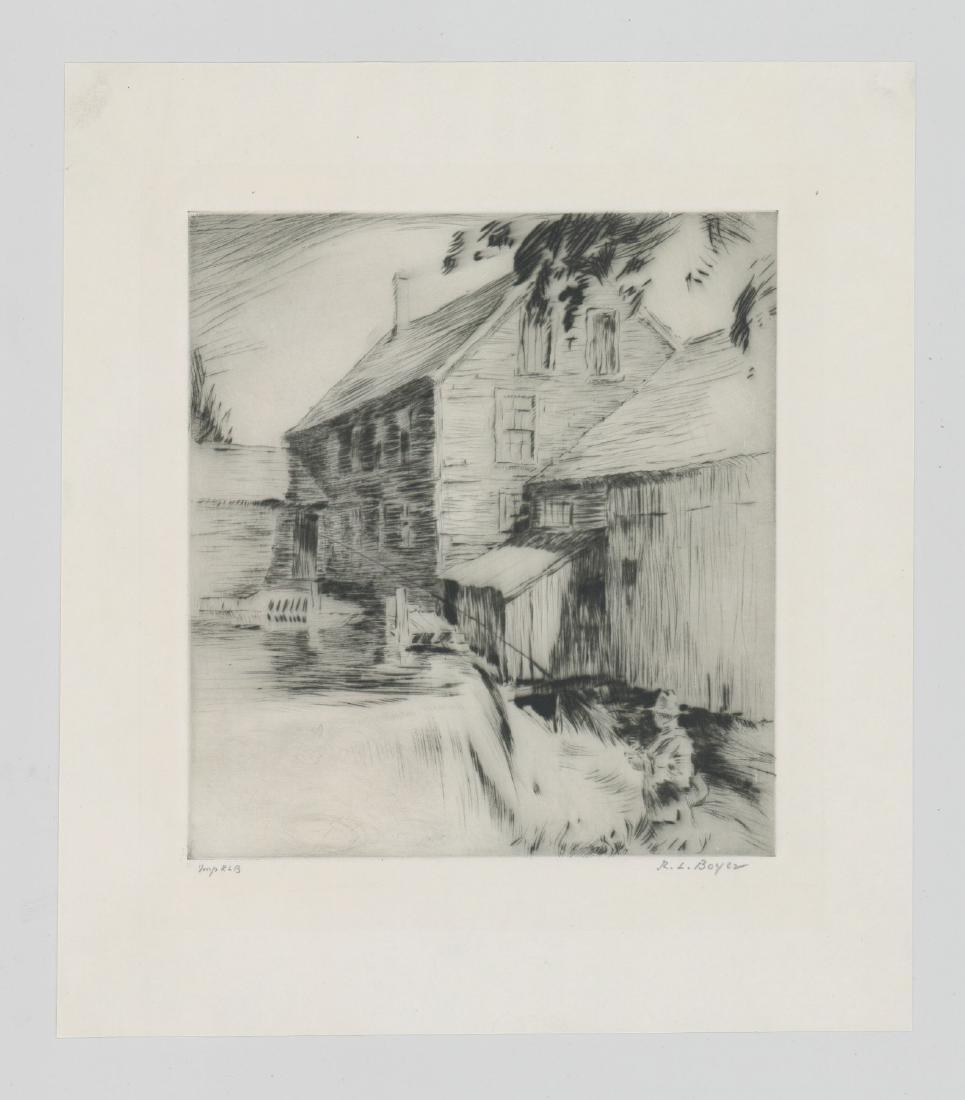 Ralph Boyer Etching - 2