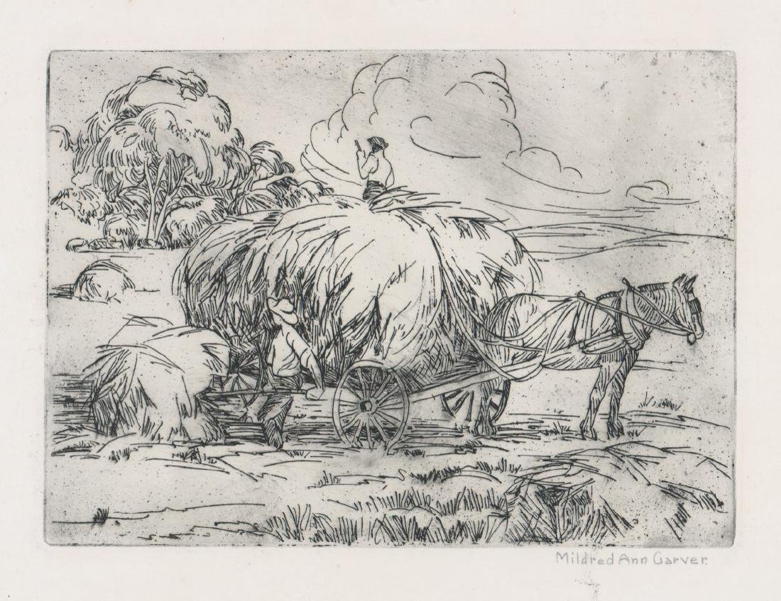 Mildred Ann Carver Etching