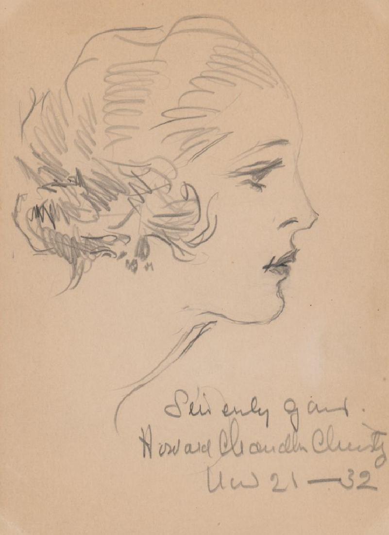 Howard Chandler Christy Original Drawing