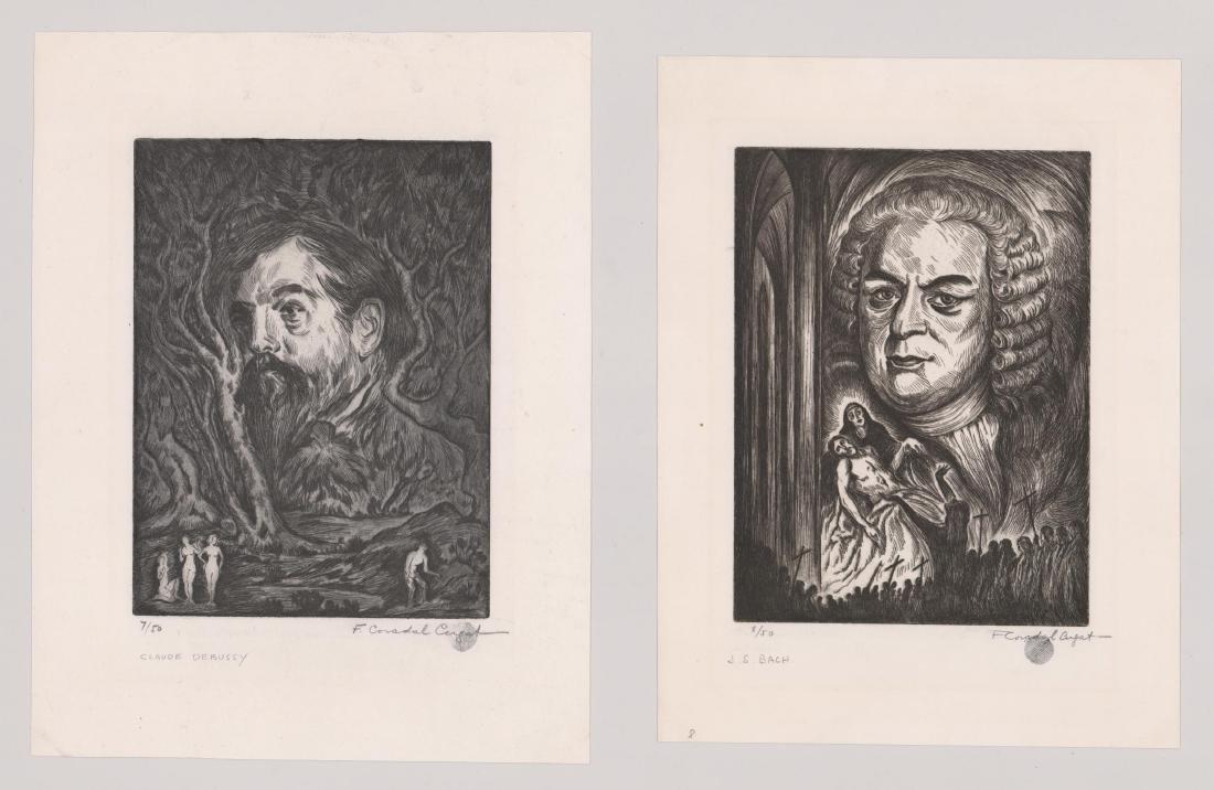 Francesc Coradel Cugat (1893 - 1981) Etchings