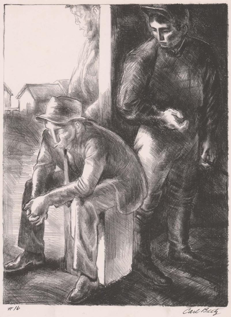 Carl Beetz Lithograph [Jockey's Quarters]