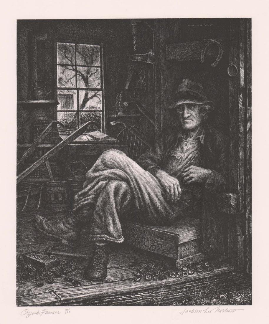 Jackson Lee Nesbitt Lithograph [Ozark Farmer]