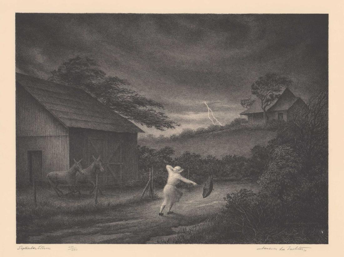 Jackson Lee Nesbitt Lithograph [September Storm]