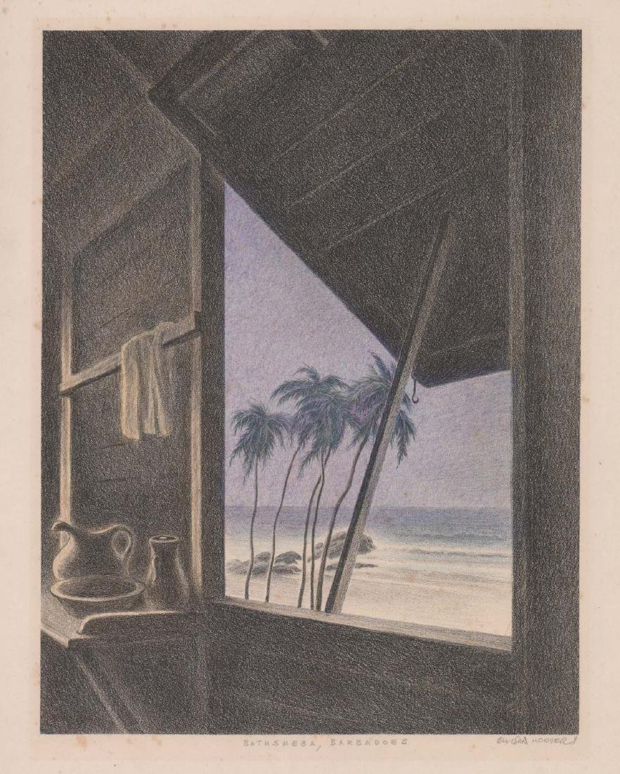 Ellison Hoover Lithograph [Bathsheba, Barbados]