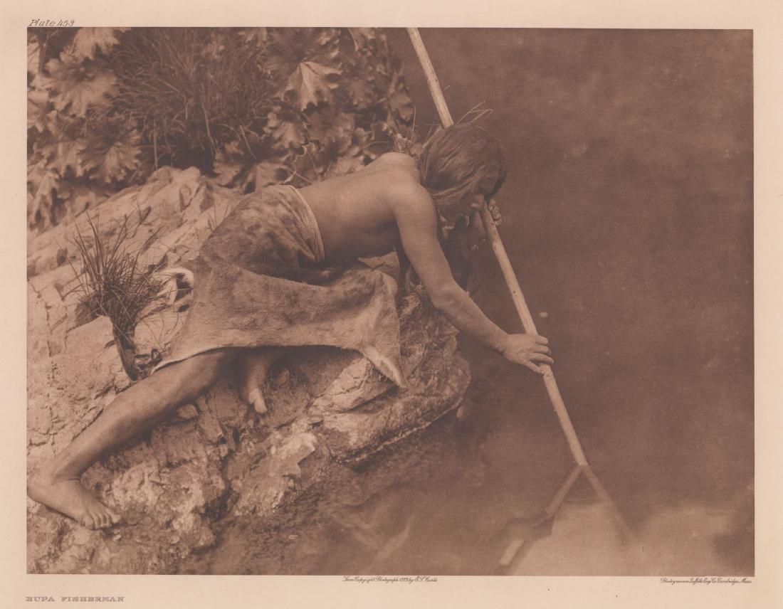 Edward Curtis Photogravure [Hupa Fisherman]