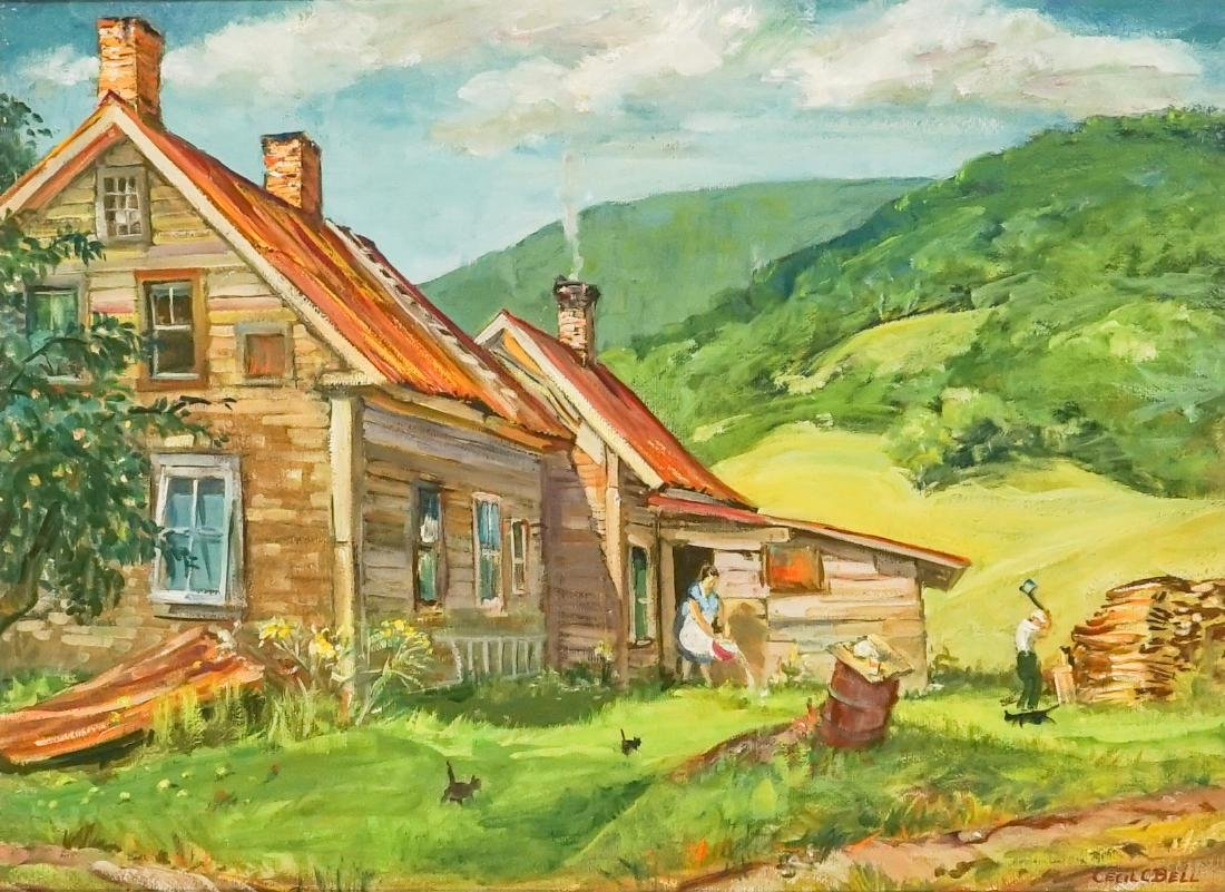 Cecil Bell (1906-1970) Oil Painting