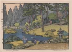 Toshi Yoshida Signed Woodblock Print