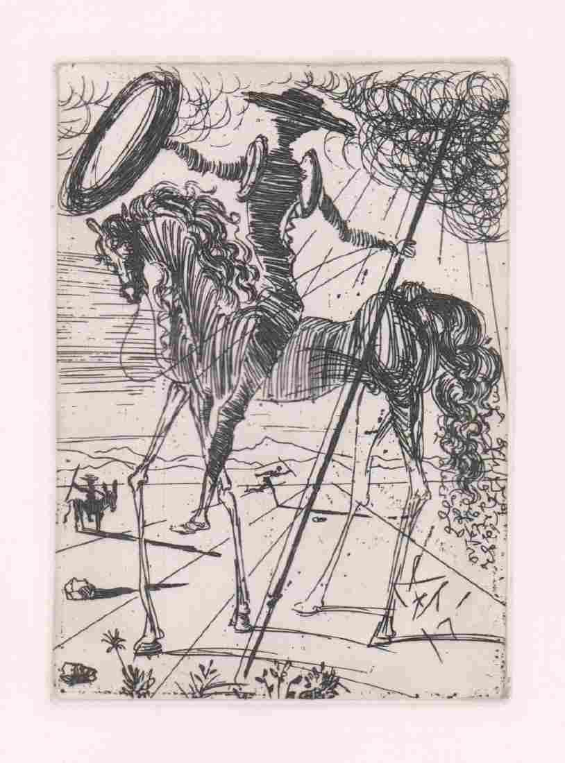 Salvador Dali Etching [Don Quixote]
