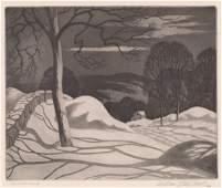 William MacLean Etching Moonlight Shadows